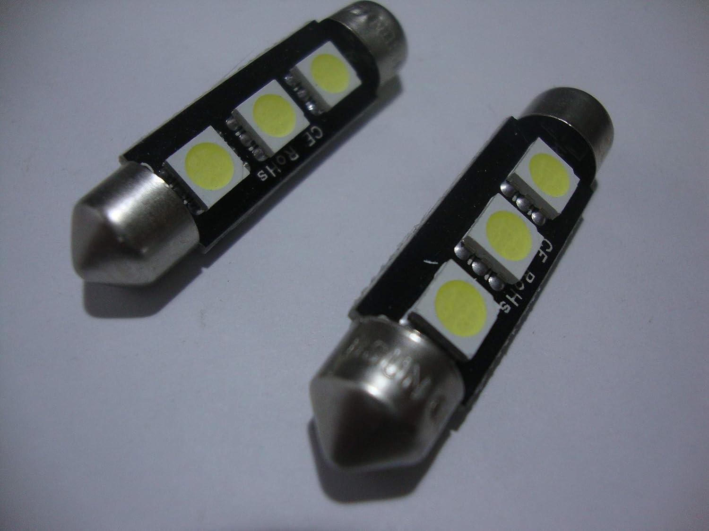 2 x 42 mm Led Festoon 24 V siluro T/ürsprechanlage LKW Pullman wei/ß 6400K