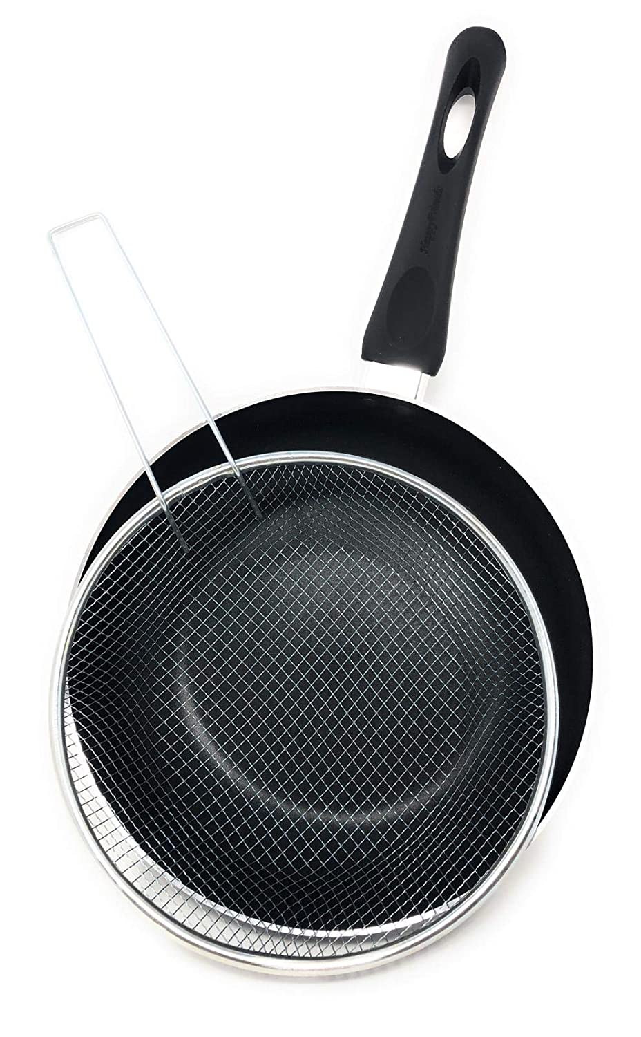 Happy Friends - Sartén Freidora con Cestillo - Inducción - Doble Recubrimiento Antiadherente Nonstick Plus - Ø 26 cm: Amazon.es: Hogar