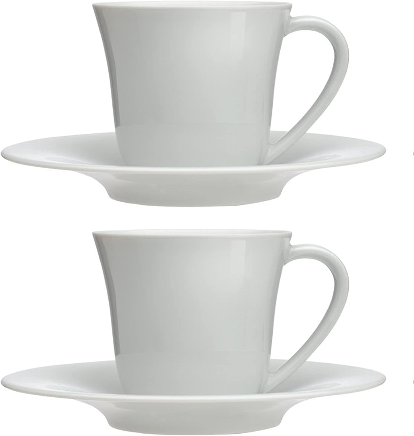 Alessi KU 2 4 6 Porcelain Cups /& Saucer Espresso Coffee Ceramic Gift Boxed Set