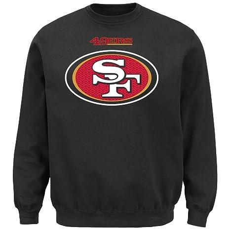 best authentic bc714 e58d3 Majestic Men's San Francisco 49ers Black Critical Victory 9 Crewneck  Sweatshirt by