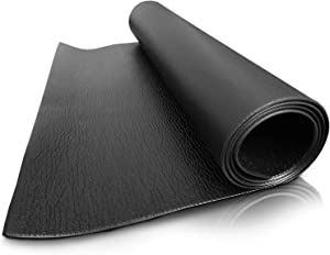 """Exercise Equipment Mat, Treadmill Mat, Peloton Mat, Elliptical, Gym, Stationary Spin Bike Mat, Jump Rope, Fitness and Workout Mat on Hardwood Floor and Carpet Protection 78""""x35"""" Black"""