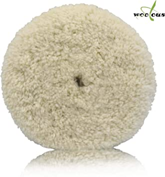 """8/"""" Wool Double Sided Buffing Pad for Compound Cutting and Polishing"""