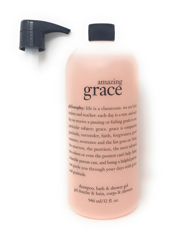 Philosophy Amazing Grace 3-in-1 Shower Gel , Bubble Bath, Shampoo 32 Oz