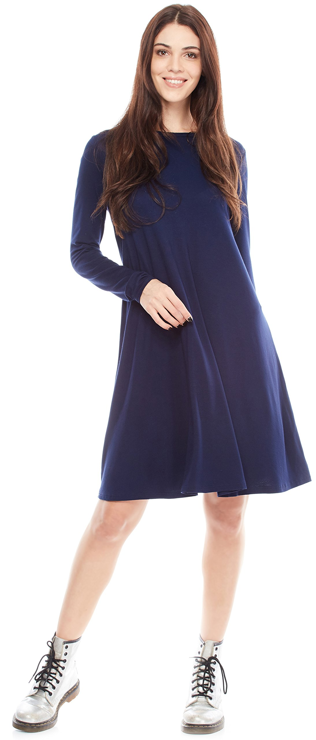 Certain Lady Women's Elegant Long Sleeve Loose Dress by Perfect for Office - Casual or Semi Formal Style by Certain Lady