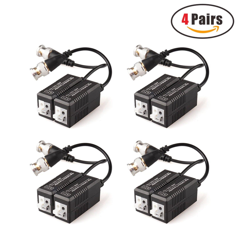 Faittoo 4ch 1080N AHD DVR 960H/720P リアルタイムデジタルレコーダー ビデオ監視システム ハイブリッドNVR+AHD+DVR 3-in-1クラウドDVR 動き検出 P2P QRスキャン スマートフォンリモートアクセス HDMI VGA出力 HDDなし B072PVJDRD Security Surveillance Accessories,BNC Video Balun Transceiver Cable