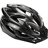 Zacro Light Weight Cycle Helmet for Bike Riding Safety - Adult Bike Helmet with Detachable Visor and Liner in Medium Size (54-67cm), Black