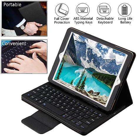 Wineecy iPad 9.7 Teclado Funda, Premium Funda con Bluetooth inalámbrico QWERTY Teclado Case para Apple