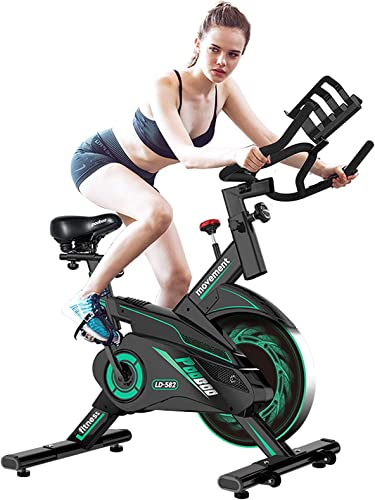L NOW Exercise Bike Indoor Cycling Bike Belt Drive Smooth Magnetic Resistance Stationary Bike