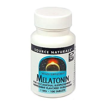 Amazon.com: Source Naturals – Melatonina Sabor de menta 1 mg ...