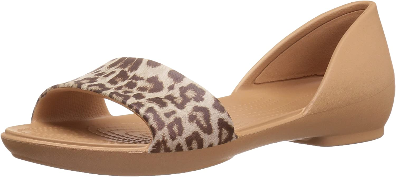 Lina Leopard Dorsay Flat Sandal