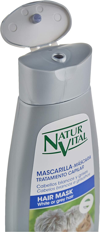 NaturVital Mascarilla Silver Cabellos Blancos y Grises 300 ml, Plata (8414002070466)