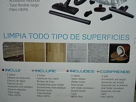 Top SHOP newteck 9221 aspirador ciclónico 2 en 1 sin bolsa para sólidos y líquidos 1200 W Aspiradora & Te: Amazon.es: Hogar