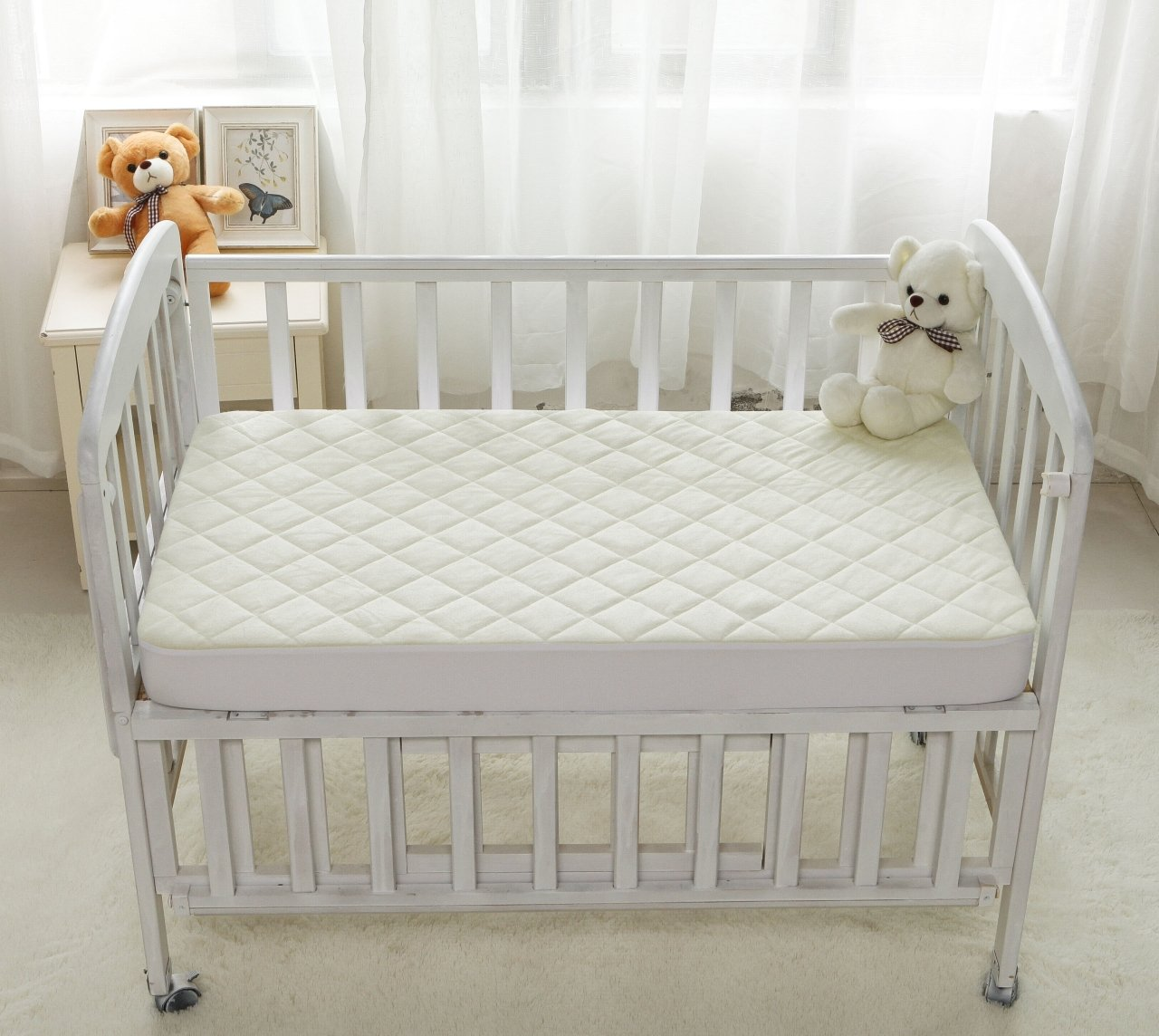 crib greenbudsgiveaway well greenbuds organic rounded ny pad mattress