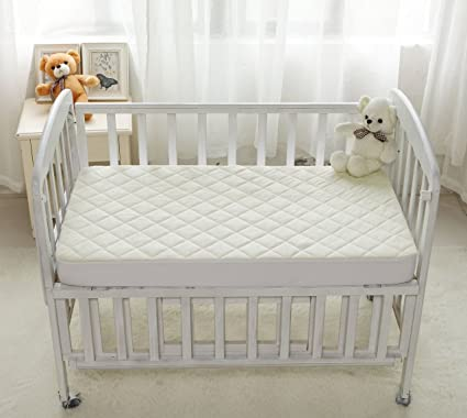 Kiddleco Waterproof Bamboo Crib Mattress Pad Protector
