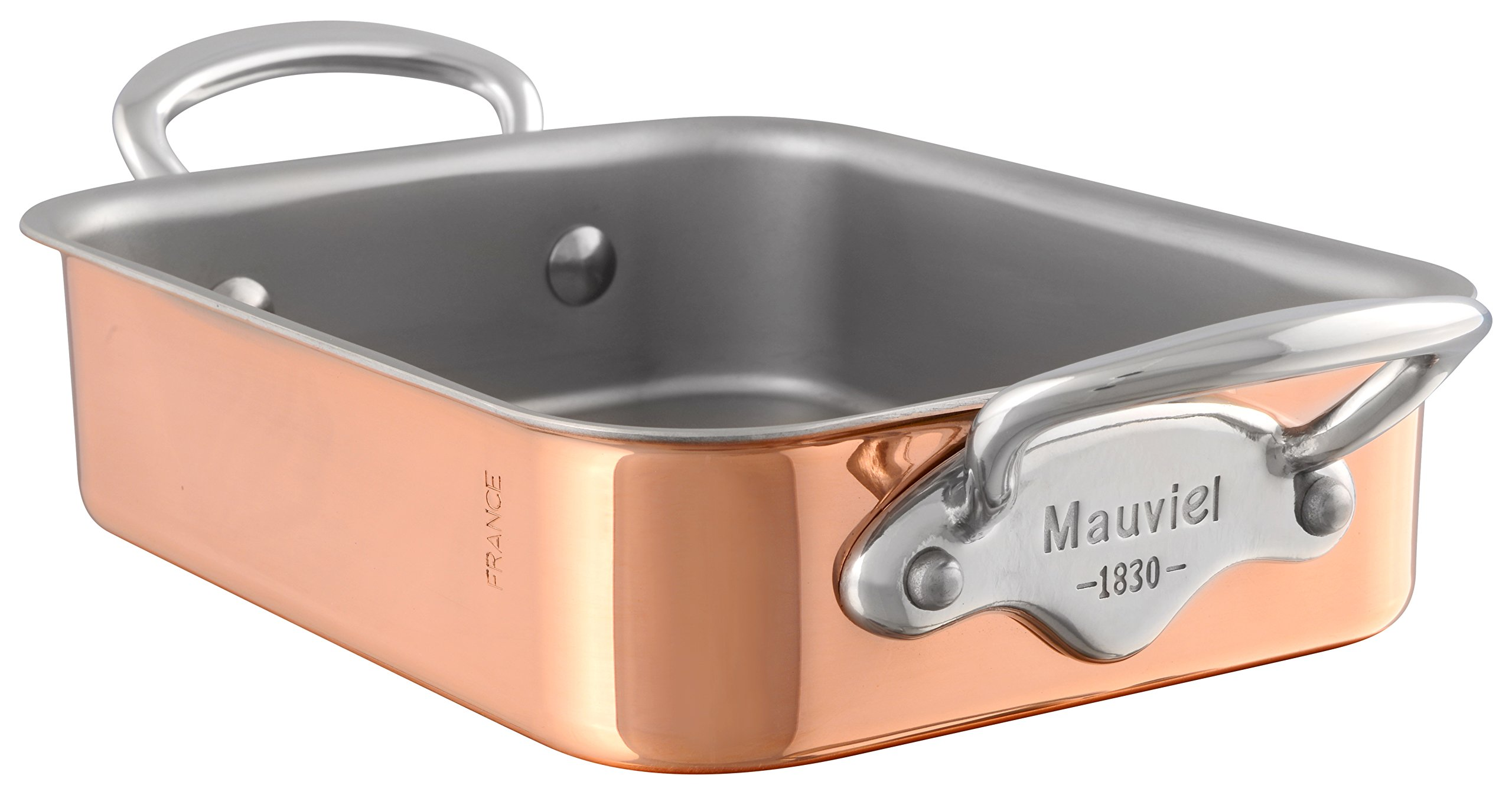 Mauviel M'Mini Roaster with Stainless Steel Handles - Copper - 7.1 x 3.9''