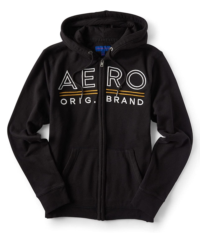 Aeropostale Womens Embroidered Hoodie Sweatshirt
