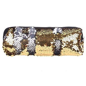 CHICTRY Magic Mermaid Sequin Cosmetic Pouch Glitter DIY Reversible Double  Color Fantasy Handbag Makeup Bag Pencil d79135ffedb7