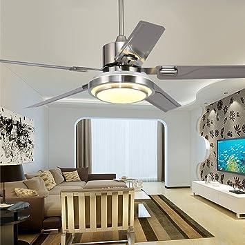 Amazon.com: Andersonlight Stainless Steel Ceiling Fan for Modern ...
