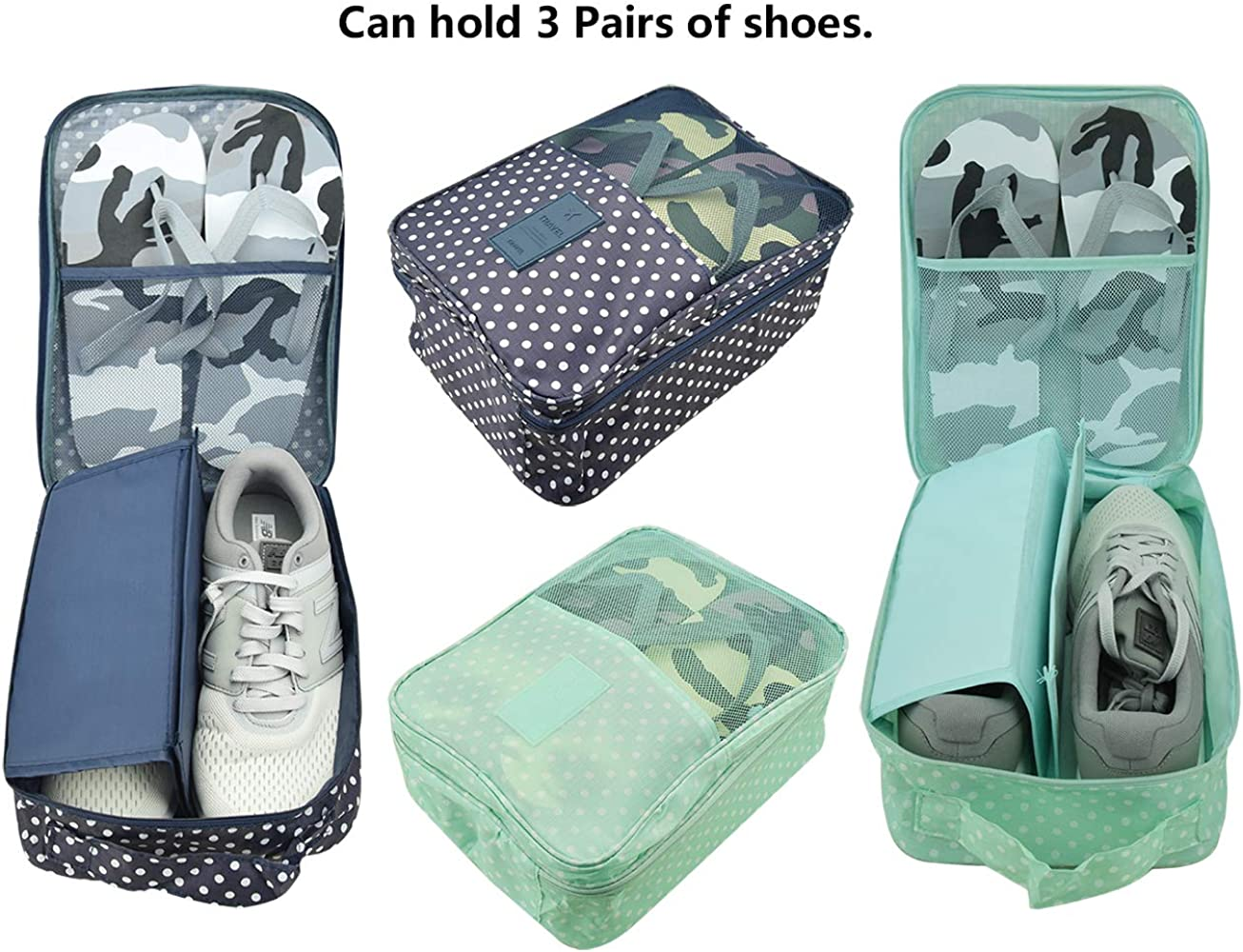 Portable Water Resistant Travel Storage Bags Organizer For Clothe Shoes Socks