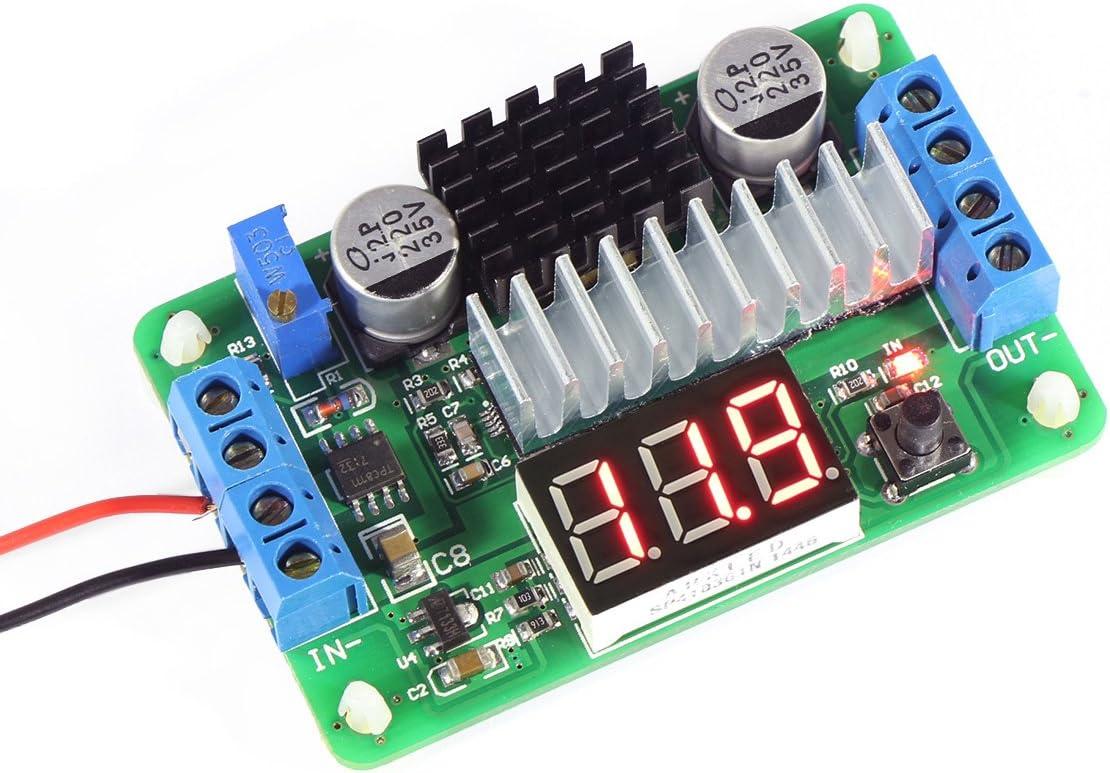 Droking Boost Converter, LTC187 DC Boost Converter 3.5-30V 100W Fuente de energía Regulador de Voltaje 5V/12V Módulo de voltios Elevador con voltímetro Entrada/Salida Pantalla LED Alternativa