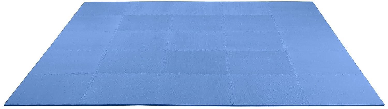 displays2goロイヤルブルーフォームポータブルフローリング、24 x 24インチ正方形ピース、非毒性、汚れにくく、抗疲労、臭気無料、酷使、120 x 1 / 2 x 120インチ(tsfm10blr)   B00SWXT24W