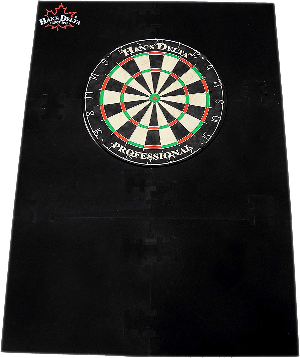 HANS DELTA Professional Dartboard Backboard Surround Wall Protector
