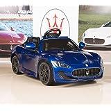 Ride On Car Kids Maserati GranCabrio 12V Battery Power Wheels RC Remote Blue