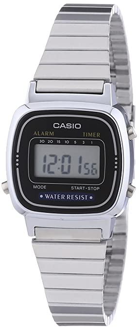 Amazon.com  Casio Collection Retro Digital watch for women Very Light   Watches a11c34623c7