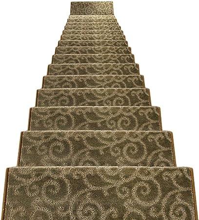 Alfombras de Escalera Alfombra De Escalera Espesar Rectángulo Autoadhesivo Antideslizante Escalera Otomanos 12mm 4Colores 5 Tallas (Color : A, Tamaño : 5pcs 65x24x3cm): Amazon.es: Hogar