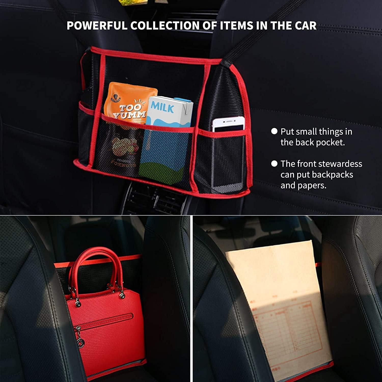 Seat Storage net Bag Seat Back net Bag Handbag Holder Cargo Tissue Holder Wallet Storage and Pocket Rear Pet Child Guard Longwu Car Net Pocket Handbag Cover