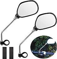 1 Pair 360 Rotatable Bicycle Handlebar End Mirrors Bike Side Rearview Mirrors