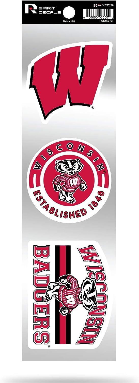 Wisconsin Badgers Triple Retro Throwback Spirit Decals Flat Vinyl Auto Home Sticker Sheet University of