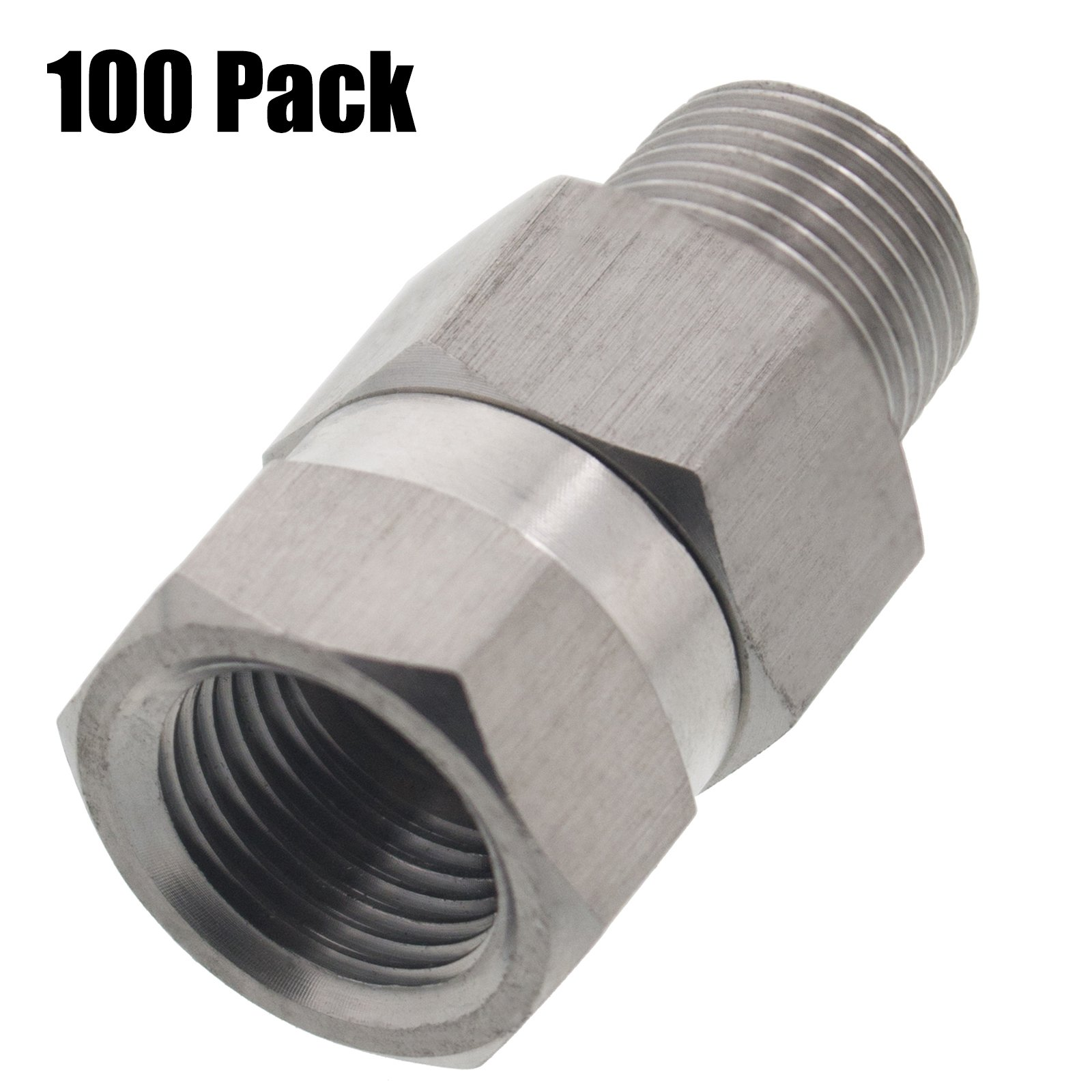Erie Tools 100 Pressure Washer 3/8'' Male to Female NPT Brass Swivel Coupler 3200 PSI