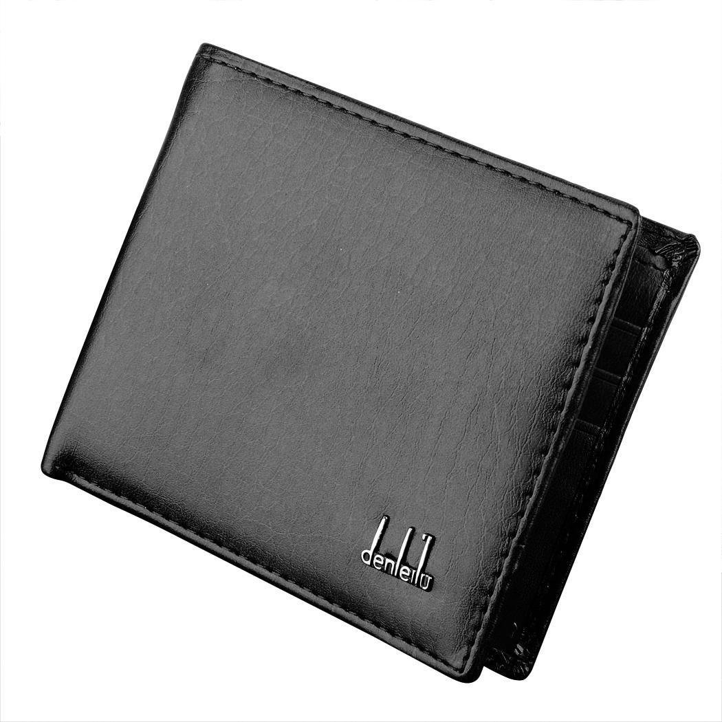 Mens Synthetic Leather Wallet Money Pockets Credit//ID Cards Holder Purse Mens Wallet