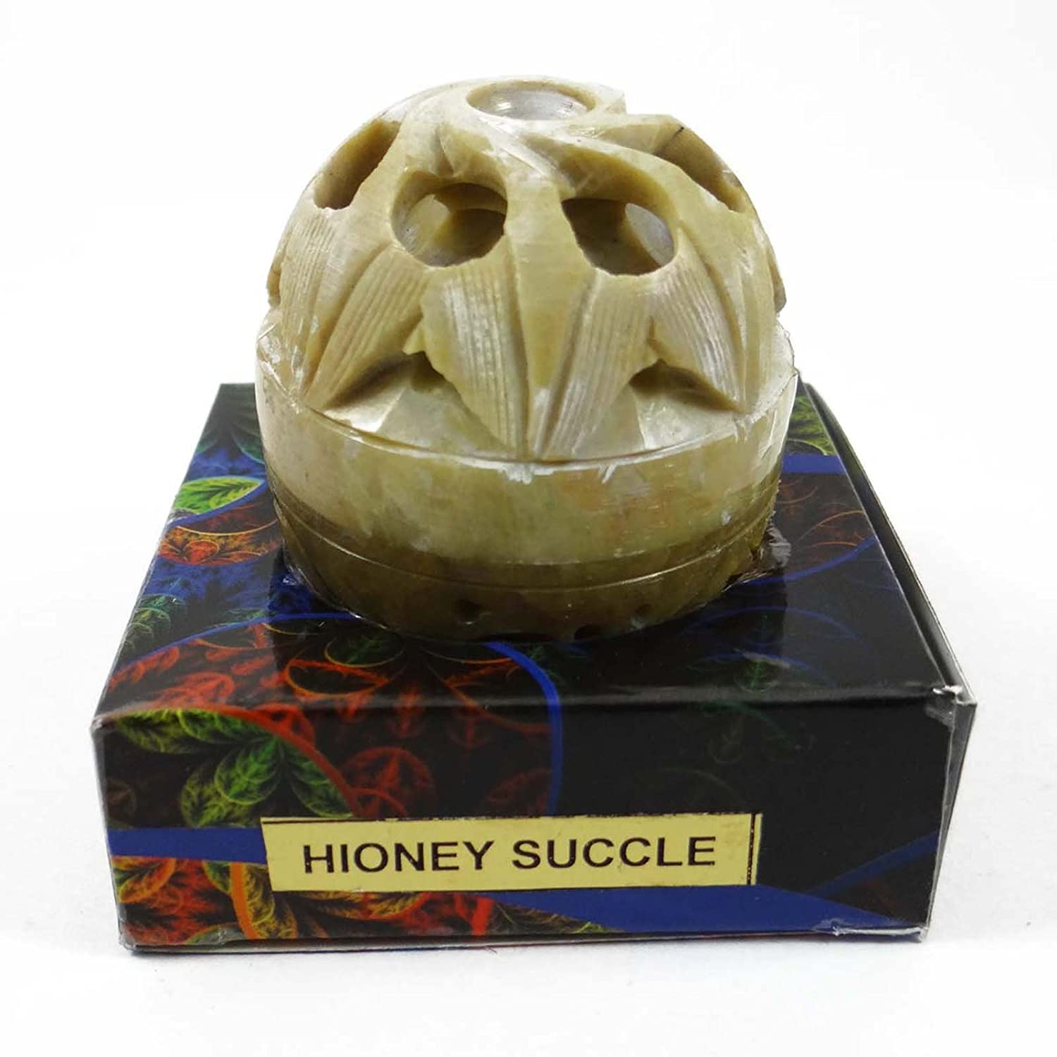 Natural Honey Succle Solid Perfume Body Musk In Stone Jar 8 Gms