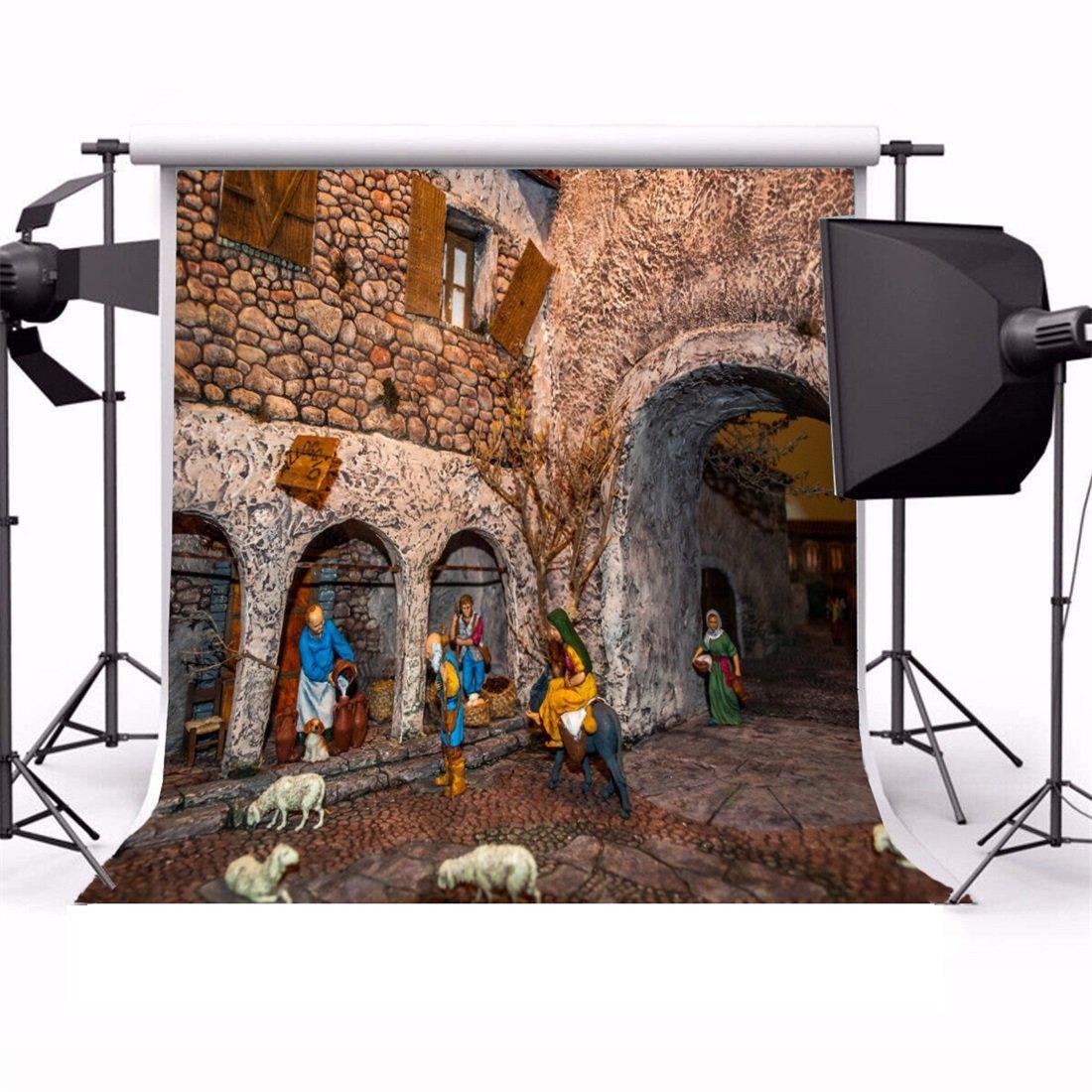 YongFoto 2,5x2,5m Vinyl Foto Hintergrund Weihnachten: Amazon.de: Kamera