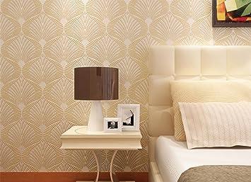 MEILI Moderne Minimalistische 3D Vlies Tapete Wohnzimmer Esszimmer  Schlafzimmer Hintergrund Wand Geometrische Konzept Tapete, 2