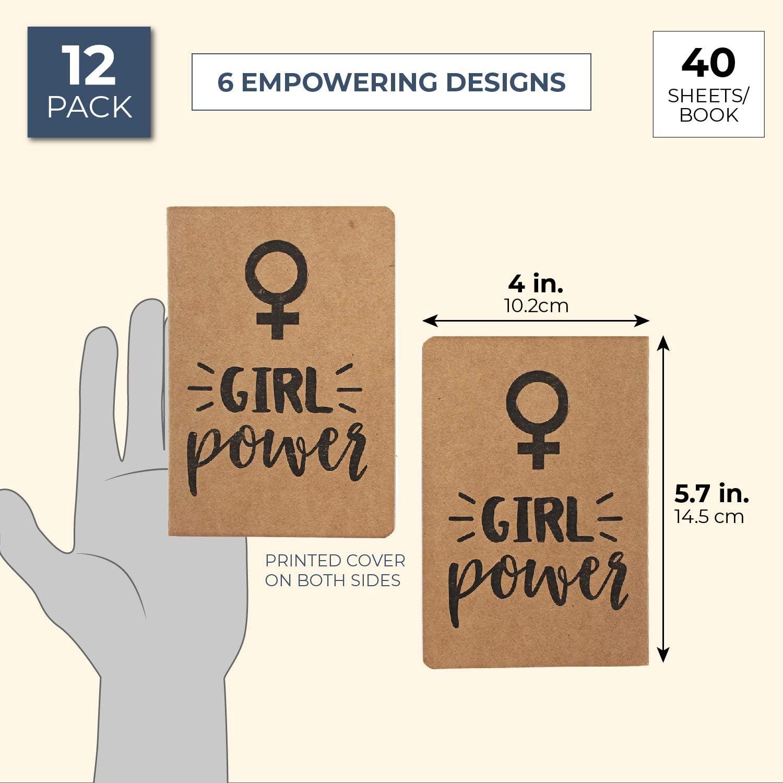 Paper Junkie 6 motivi regali femministi Taccuino tascabile 12 pezzi