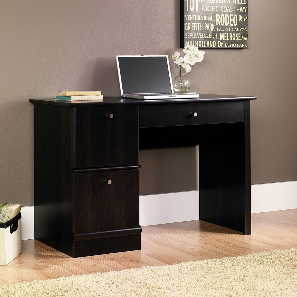 Computer Desk Home Amazoncom Sauder Computer Desk Cinnamon Cherry Finish Kitchen