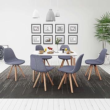 luckyfu cette 7 pièces ensemble table et chaises de salle à manger ...