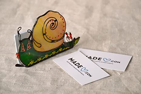 Amazoncom Stained Glass Business Card Holder Snail Office
