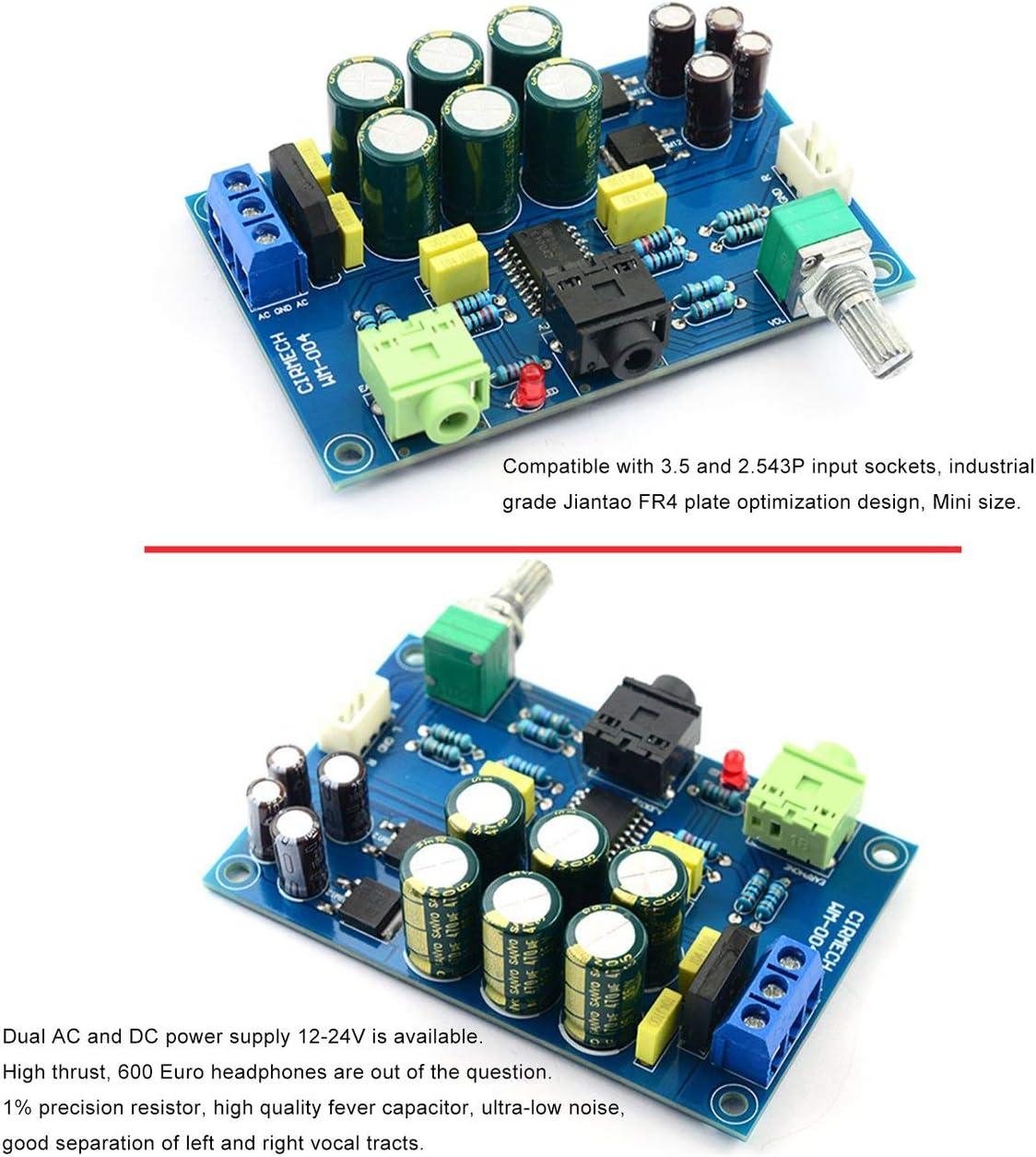 Blue /& Parts JIUY TPA6120 Kopfh/örer Verst/ärker-Brett HiFi TPA6120A2 Enthusiast Kopfh/örer AMP Amplificador Zero Noise DIY Verst/ärker-Brett