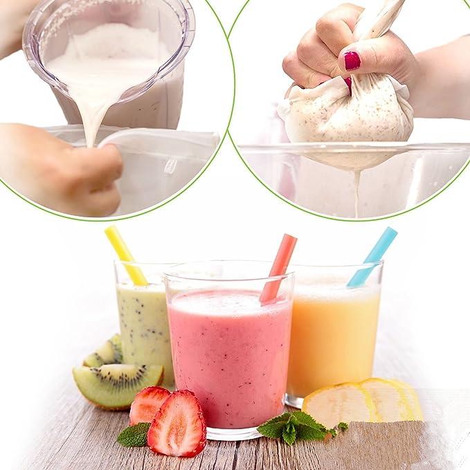 Bolsa de leche para frutos secos - El mejor filtro reutilizable de 25,4 x 30,5 cm para leche de almendra, zumo, café frío y todo tipo de coladores de ...