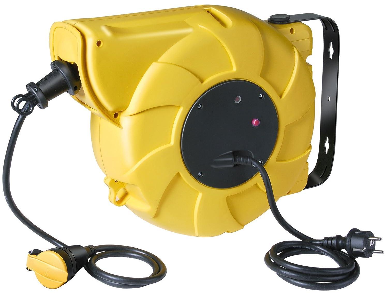 Brennenstuhl 1241221 Box Electric Enrouleur de câble électrique automatique ABE IP44 12 + 1,5 m H07RN-F 3G2,5