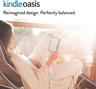 """Kindle Oasis with Leather Charging Cover - Black, 6"""" High-Resolution Display (300 ppi), Wi-Fi"""