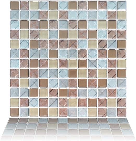 3D Mosaic Self Adhesive Wall Tile Sticker Vinyl Bathroom Kitchen Home Decor DIY