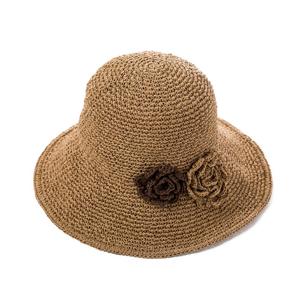 Womens visor/[flowers],straw hat/sun hat/[manual],beach hats-B adjustable57-58cm by sadahsdhjkh