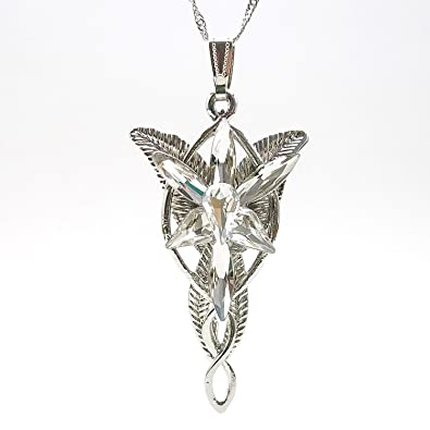 Amazon daisyjewel the arwen evenstar pendant necklace daisyjewel the arwen evenstar pendant necklace platinum plated with diamond clear crystals from aloadofball Choice Image
