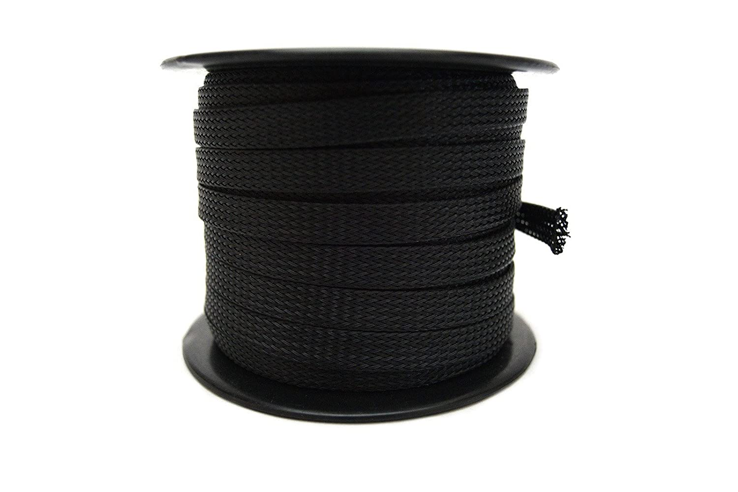 Wire Harness Sleeve Wiring Library Braided Amazoncom Black 3 8 100ft Expandable Flex Loom