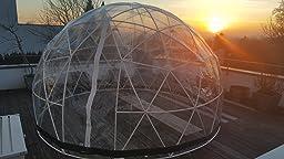 Garden Igloo Wintergarten, Transparent, 360x 360x ... Garten Pavillon Als Uberdachung Iglu Folie Bilder